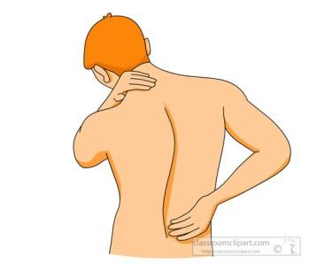 man with a backache chronic pain